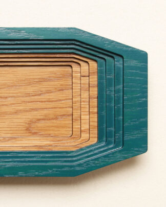 Petite boite de rangement Gradiante en bois de chêne à degrés vue de dessus.