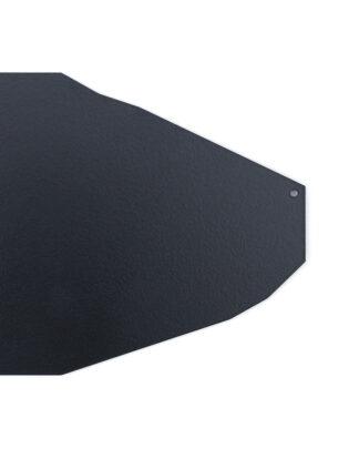 Décoration murale noire en métal au design graphique et anguleux finition laque satin
